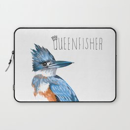 Queenfisher (Belted Kingfisher) Laptop Sleeve