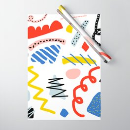 Memphis Zazzle Wrapping Paper
