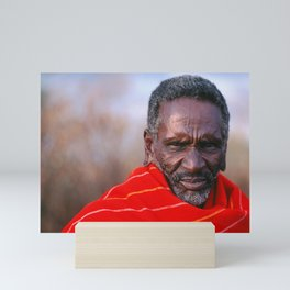 African Maasai Elder Mini Art Print