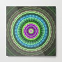Groovy wavy mandala with tribal patterns by walstraasart