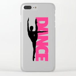 Dance Text Girl Quote Clear iPhone Case