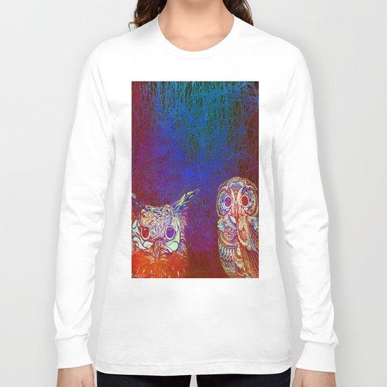 Owls at night Long Sleeve T-shirt