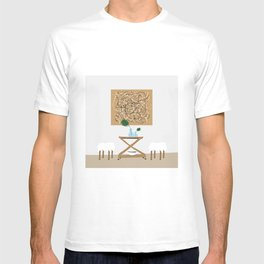 Midcentury Bar Cart and Palm Leaf T-shirt