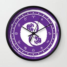 Taurus Yin Yang Second Zodiac Sign Wall Clock