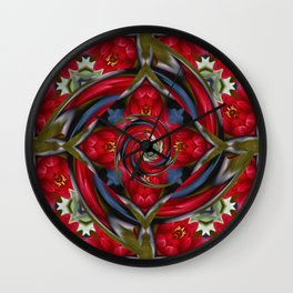 Water Lily Fractal Wall Clock