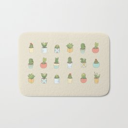 Cute Succulents Bath Mat