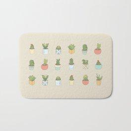 Cute Succulents Bath Mat