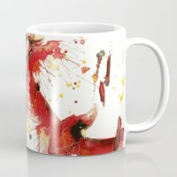 cardinal Mugs featuring Cardinal  by Chelsea Brouillette