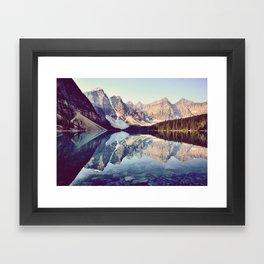 Moraine Lake Reflection Framed Art Print