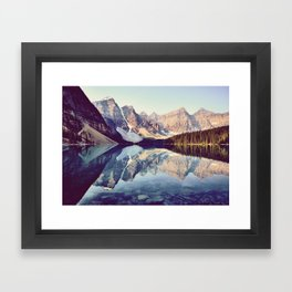 Moraine Lake Reflection Framed Art Print