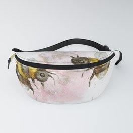Watercolour Bees Cute Nursery Wall Art Print Illustration Fanny Pack