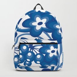 Abstract floral branch Backpack