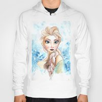 elsa Hoodies featuring elsa by mejony