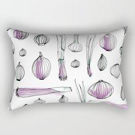 Onion harvest Rectangular Pillow