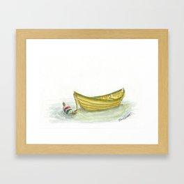 Golden Dory Framed Art Print
