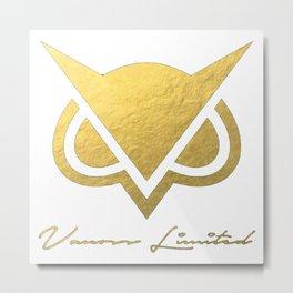 Vanoss Gold Foil Metal Print