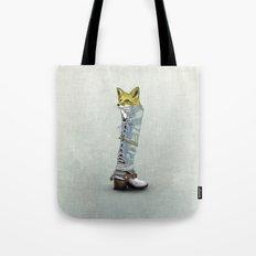 Fox in Boot Tote Bag