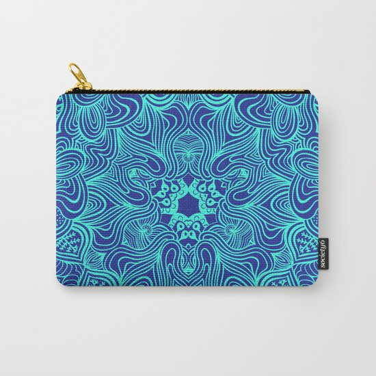 Blue on Blue, abstract pattern Carry-All Pouch