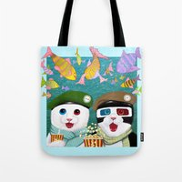 3d Tote Bags featuring 3D by Tummeow