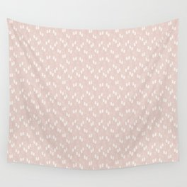 White puffs Wall Tapestry
