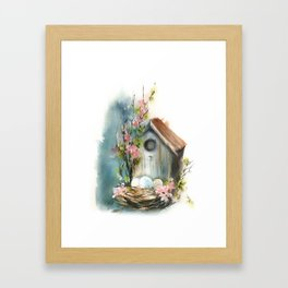 Bird house Framed Art Print