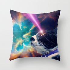 Neko San in Space Throw Pillow