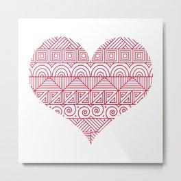 Patterned Valentine Metal Print