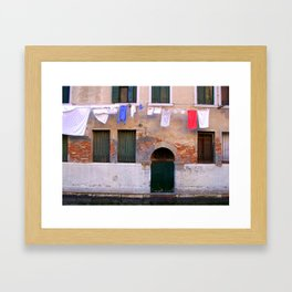 Laundry Line Framed Art Print