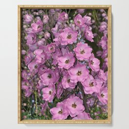 Lovely pink delphinium Serving Tray