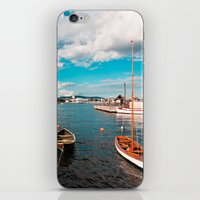 oslo iPhone & iPod Skins featuring Oslo Boats by Léon