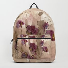 Vibrations - Abstract Flowers Backpack