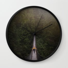 Explore the Forest Wall Clock