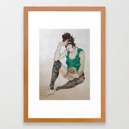 Her Doll Framed Art Print