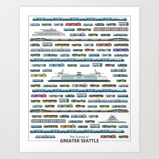The Transit of Greater Seattle Art Print