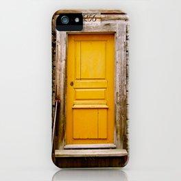 What lies behind the orange door? iPhone Case