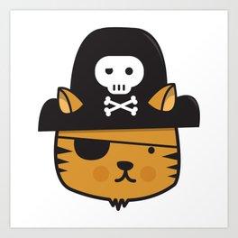 Pirate Cat: Jumpy Icon Art Print