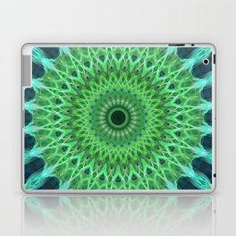 Green and blue mandala Laptop & iPad Skin