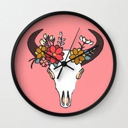 Animal Skull Valentine Wall Clock