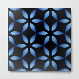Big Blue Lotus Metal Print
