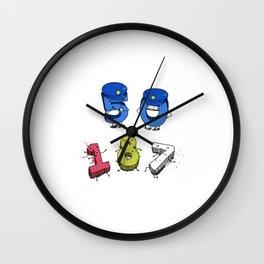 CSI Crime Scene Integers Wall Clock