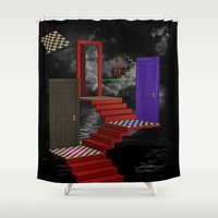 nightmare Shower Curtains featuring nightmare by Ancello