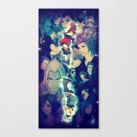 kingdom hearts Canvas Prints featuring Kingdom Hearts by Ginilla