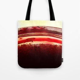 Red Glass Crystals Tote Bag