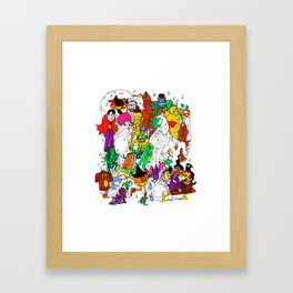 halloween party Framed Art Print
