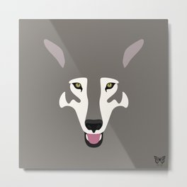 Gray Wolf (Tongues Out Project) Metal Print