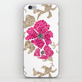 Pointillism. Flowers iPhone Skin