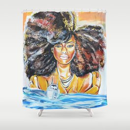 lost without u Shower Curtain