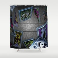 persona Shower Curtains featuring Persona Tarot Cards by KeenaKorn