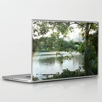 central park Laptop & iPad Skins featuring Central park by ChaunceyInk