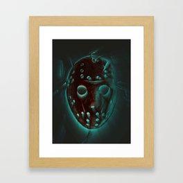 Jason - Blue Framed Art Print